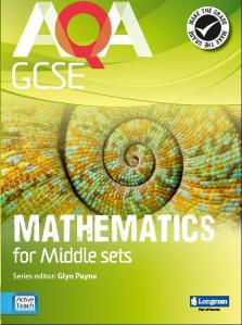 AQA GCSE Middle Sets textbook covering borderline C
